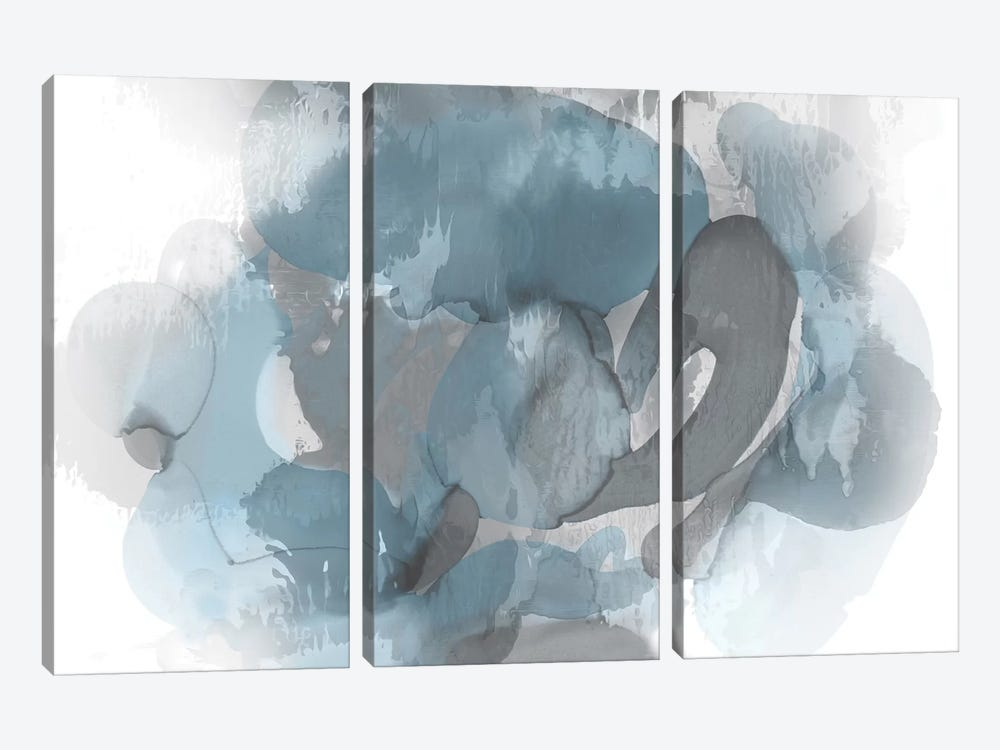 Aqua Flow II by Kristina Jett 3-piece Canvas Artwork