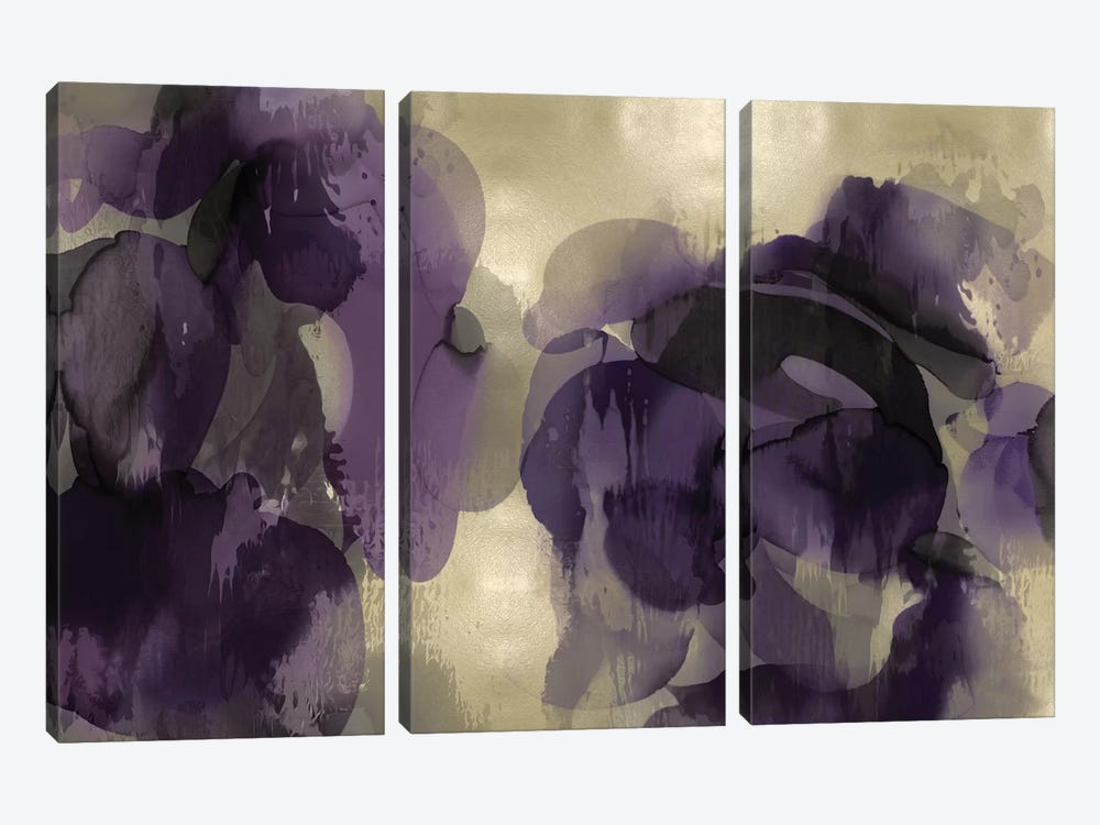 Cascade Amethyst Horizontal 3-piece Canvas Print