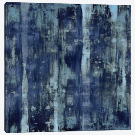 Variations In Blue 3-Piece Canvas #JTU11} by Justin Turner Canvas Artwork