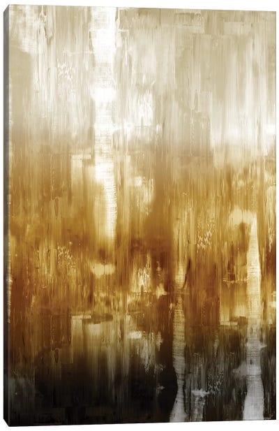 Amber Gradation Canvas Art Print