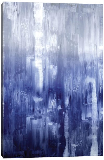 Indigo Gradation Canvas Art Print