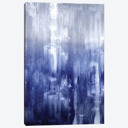 Indigo Gradation 3-Piece Canvas #JTU5} by Justin Turner Canvas Artwork