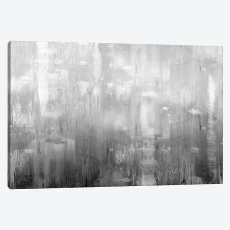 Textural In Grey 3-Piece Canvas #JTU8} by Justin Turner Art Print