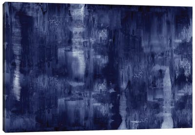 Textural In Indigo  Canvas Art Print