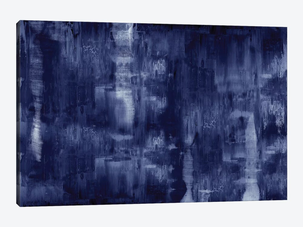 Textural In Indigo  by Justin Turner 1-piece Canvas Art