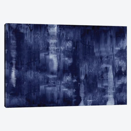Textural In Indigo  3-Piece Canvas #JTU9} by Justin Turner Canvas Print