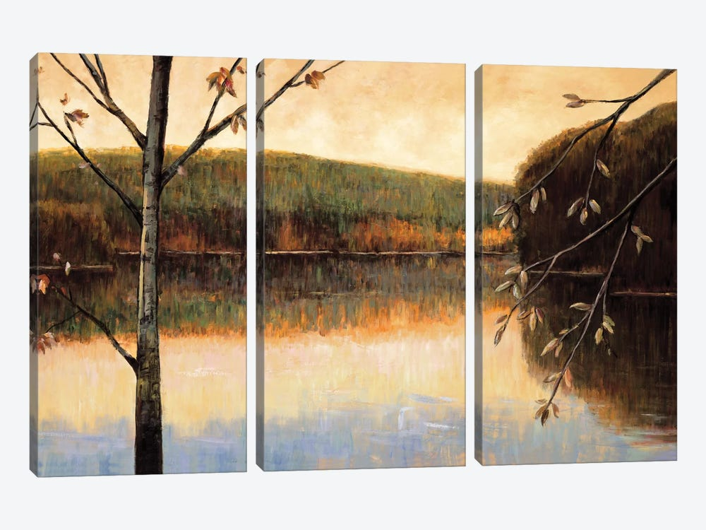From The Lakeshore by Justin Adams 3-piece Canvas Print