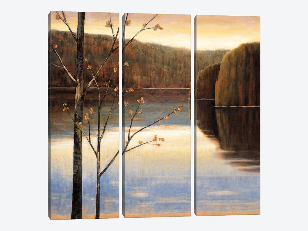 Lakeside I by Justin Adams 3-piece Canvas Artwork