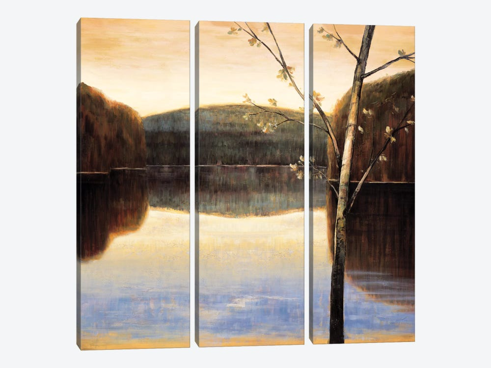 Lakeside II by Justin Adams 3-piece Canvas Print