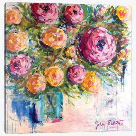 Bouquet Of Joy Canvas Print #JUB200} by Julia Badow Canvas Art