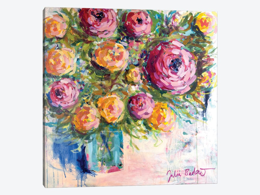 Bouquet Of Joy by Julia Badow 1-piece Canvas Art