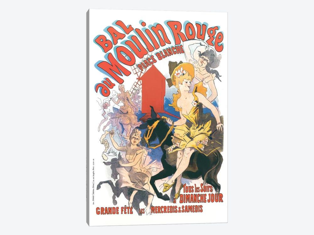Bal du Moulin Rouge, Place Blanche Advertisement, 1889 by Jules Cheret 1-piece Art Print