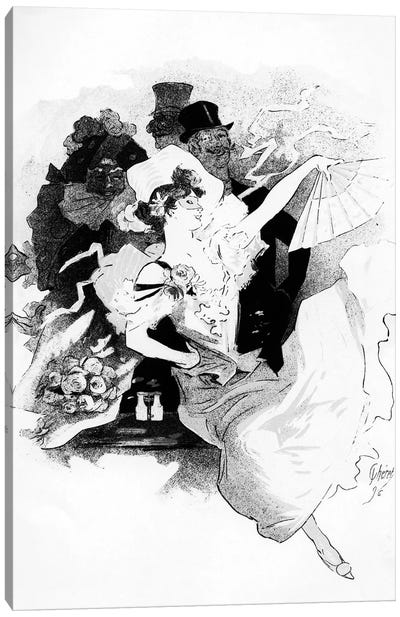 """Illustration From The First """"Grand Bal Masque"""" Advertisement Canvas Art Print"""