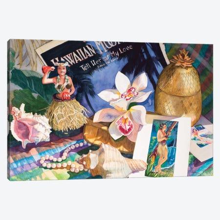 Hawaiian Moonlight Canvas Print #JUD11} by Judy Koenig Canvas Artwork