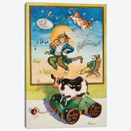 Hey Diddle Diddle Canvas Print #JUD12} by Judy Koenig Canvas Art