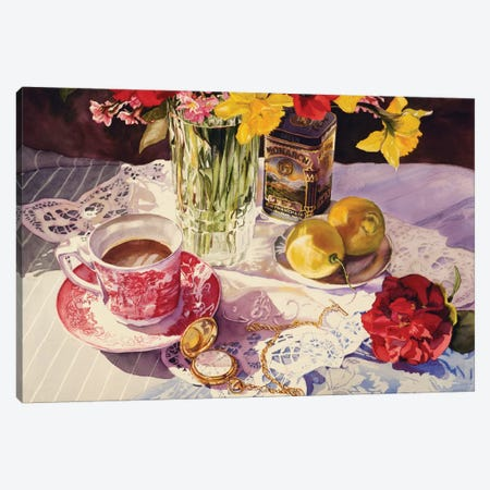 High Tea Canvas Print #JUD13} by Judy Koenig Canvas Artwork