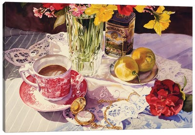 High Tea Canvas Art Print