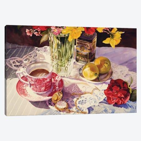 High Tea Canvas Print #JUD13} by Judy Koenig Canvas Artwork