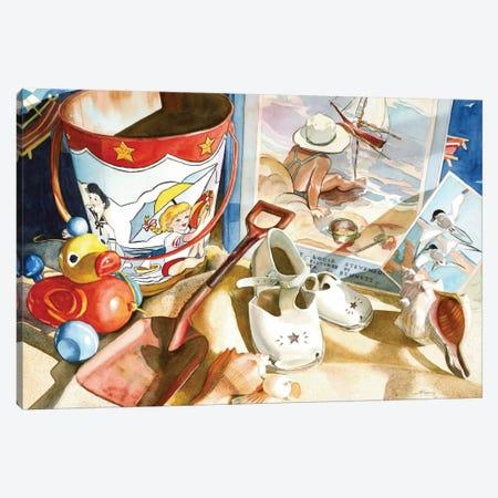 Lazy Daze Canvas Print #JUD17} by Judy Koenig Canvas Art Print