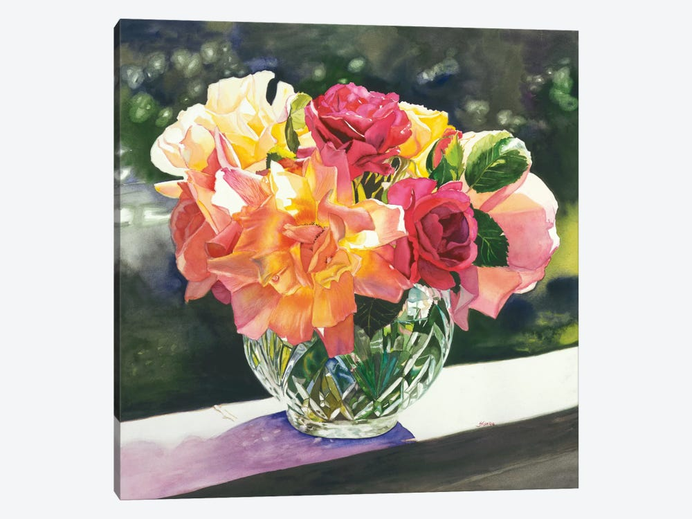 Rose Bowl by Judy Koenig 1-piece Canvas Wall Art
