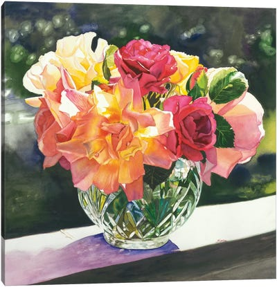 Rose Bowl Canvas Art Print