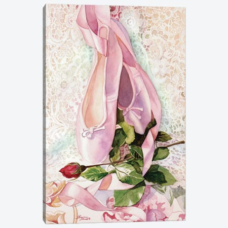 Ballet Rose Canvas Print #JUD1} by Judy Koenig Canvas Artwork