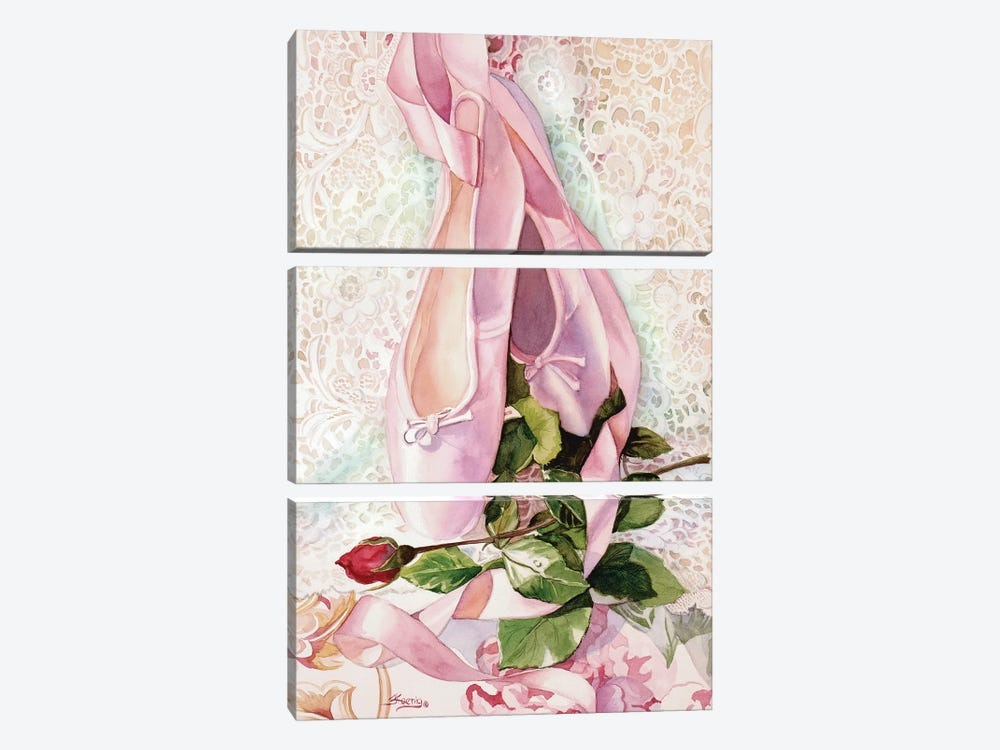 Ballet Rose 3-piece Canvas Artwork