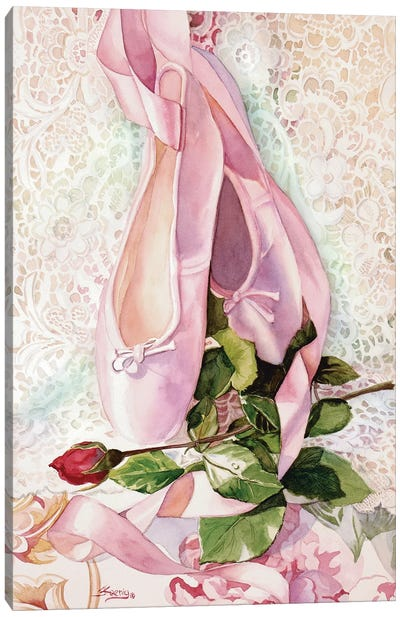 Ballet Rose Canvas Art Print