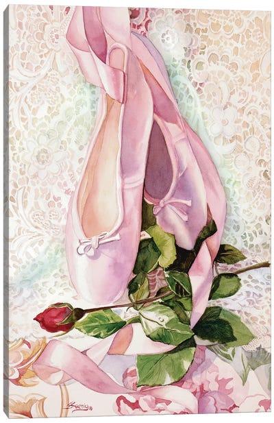 Ballet Rose Canvas Art Print