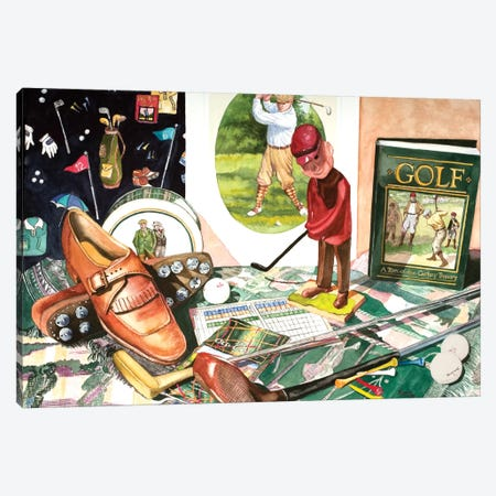 Tee Time Canvas Print #JUD23} by Judy Koenig Canvas Art Print