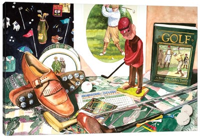 Tee Time Canvas Art Print