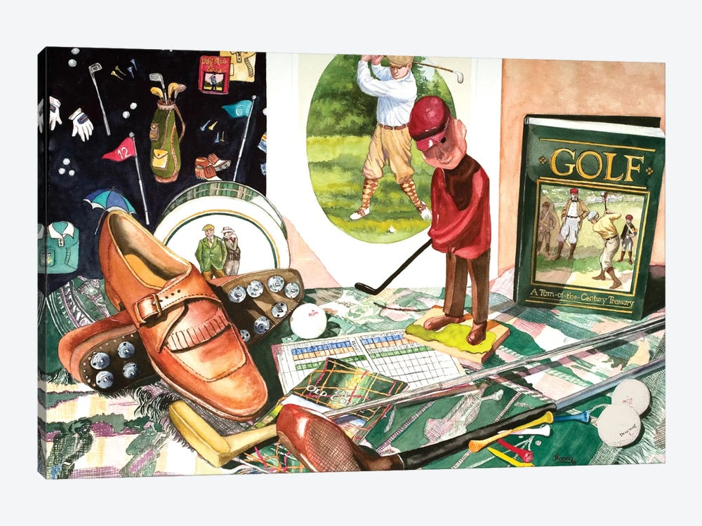Tee Time by Judy Koenig 1-piece Canvas Art Print
