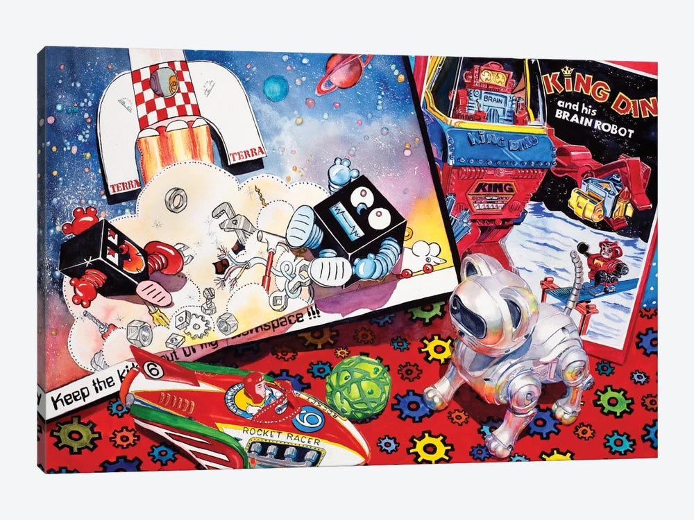 Blast off by Judy Koenig 1-piece Canvas Print