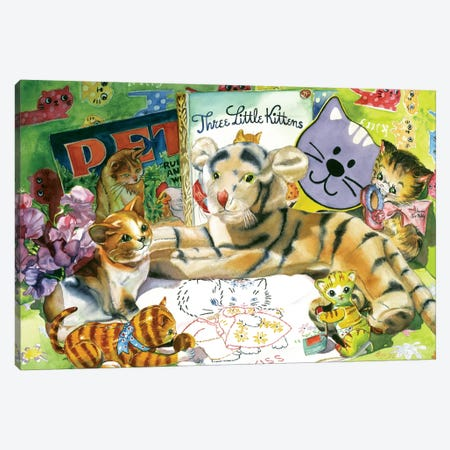 Cat Sonnet Canvas Print #JUD4} by Judy Koenig Art Print