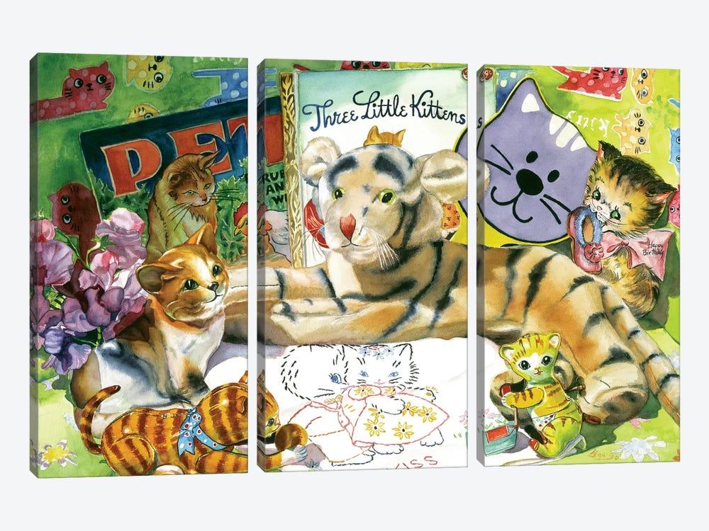 Cat Sonnet by Judy Koenig 3-piece Canvas Print