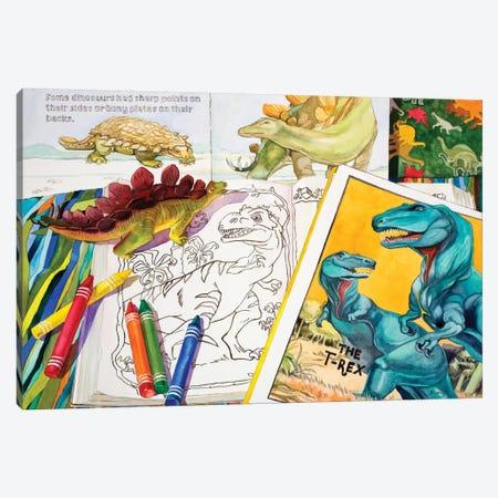 Colorasaurs Canvas Print #JUD6} by Judy Koenig Canvas Art Print