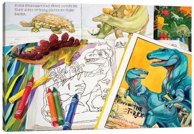Colorasaurs Canvas Art Print