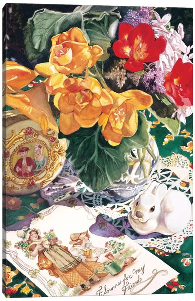 Etude En Saffron Canvas Art Print