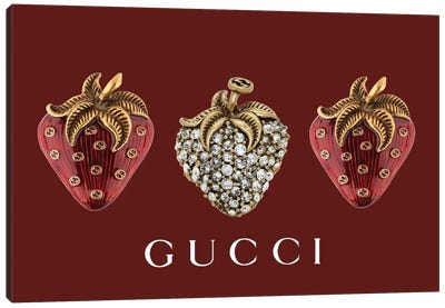 Gucci Strawberries Canvas Art Print