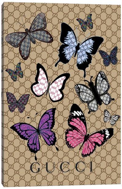 Gucci Butterflies Canvas Art Print