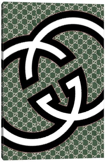 Gucci Green Logo Canvas Art Print