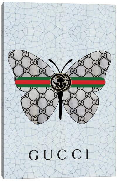 Gucci Logo Butterfly Canvas Art Print