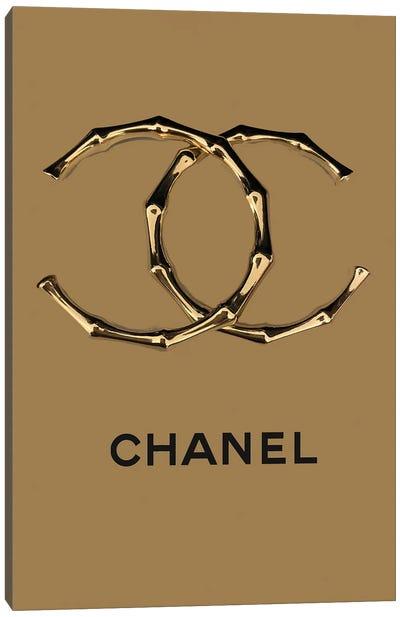 Chanel Bamboo Logo Canvas Art Print