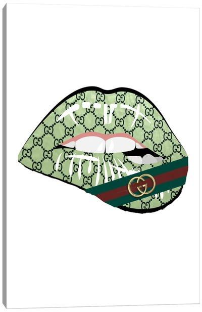 Gucci Banner Lips Canvas Art Print