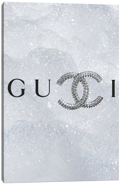 Gucci Chanel Logo Canvas Art Print