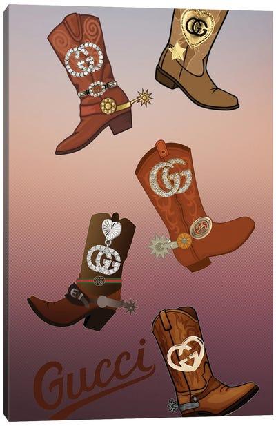 Gucci Cowboy Boots Canvas Art Print