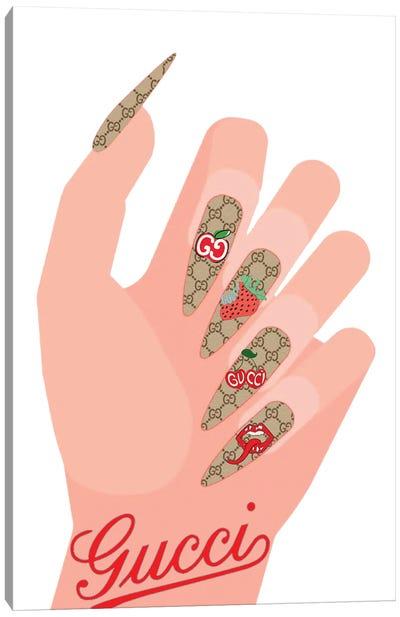 Gucci Red Nails Canvas Art Print