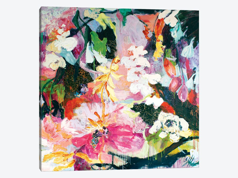 Garden Of Joy by Julia Hacker 1-piece Canvas Art Print