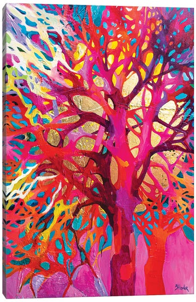 Singing Trees Pink Canvas Art Print