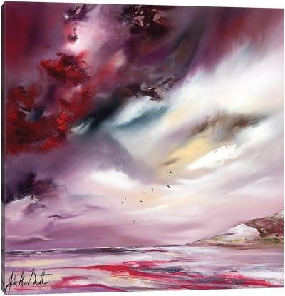 A Ruby Shore  Canvas Art Print